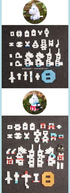 Perler Bead Templates, Perler Patterns, Perler Beads, Fuse Beads, Fun Diy Crafts, Bead Crafts, Little My Moomin, 3d Figures, Anime Demon