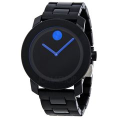 Movado Bold 42 mm Black Dial TR90/Polyurethane Stainless Steel Unisex Watch 3600099