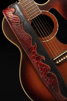 Scarlet Run guitar strap