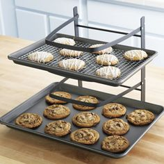 Shop Baker's Mate Cooling Rack at CHEFS.  I want this, I NEED this!  Or better yet, I need to find a way to make one of these that will also fold up out of the way when I'm not using it!