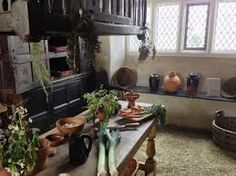 Plas Mawr, kitchen. Situated within the medieval walled town of Conwy
