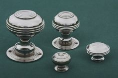 Here is our family of Bloxwich door knobs and cabinet knobs. Different sizes for all kinds of applications. Here is a link to the large one. http://www.priorsrec.co.uk/bloxwich-georgian-large-nickel-door-knobs-/p-3-22-70-320