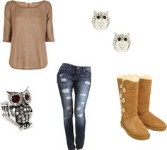 """12 year old daughter, Oakley made this"" by annie-newman on Polyvore"