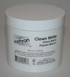 16oz Clown White extra large theatrical circus face paint stage makeup Mehron  #Mehron