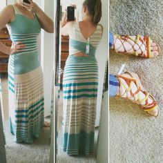 Items I kept from my April StitchFix. I have no idea what I'm going to wear the shoes with, but they were too comfy to pass up.