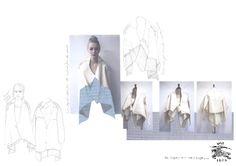 Fashion Portfolio - asymmetric jacket design development - fashion drawings; fashion sketchbook // Laura Helen Searle