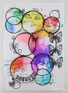 Kreative Seite für Bullet Journal oder Art Journal