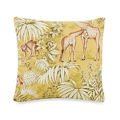 My girl loves giraffes, so this could be a nice accent.... Glenna Jean Capetown Animal Print Pillow