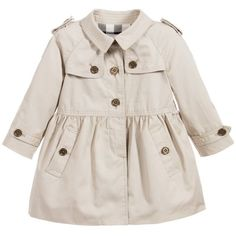 Baby girls sweet beige coat by Burberry