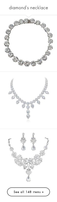 """""""diamond's necklace"""" by atenaide86 ❤ liked on Polyvore featuring jewelry, necklaces, diamond necklaces, choker necklaces, grey, triple crown, choker jewelry, crown necklace, jeweled choker and fake diamond choker"""