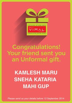 Congratulations to the winners of the Unformal Gifting Contest! In the happiness, please don't forget to DM us your contact details. #BeUnformal