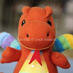 Sew   Sock Dragon   Free Pattern & Tutorial at CraftPassion.com - Part 2