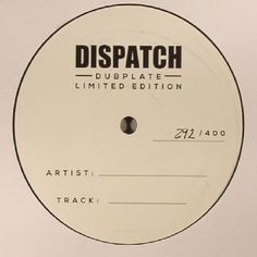 The artwork for the vinyl release of: Commix - Dispatch Dubplate 006 (Dispatch Dubplate) #music DrumAndBass
