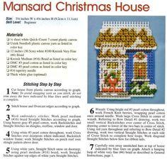 HUGGABLE CHRISTMAS ORNAMENTS **MANSARD CHRISTMAS HOUSE 1/2** by JANELLE GIESE 18/24