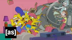 Simpsons Couch Gag   Rick and Morty   Adult Swim - (Fox) Sunday, Sept. 27, 2015 at 8 p.m.