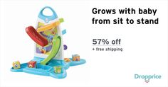 """Help me drop the price of the Fisher-Price Roller Blocks to $15.00 (57% off). The price continues dropping as more moms click """"Drop the price"""". Moms drop prices of kids & baby products by sharing them with each other."""