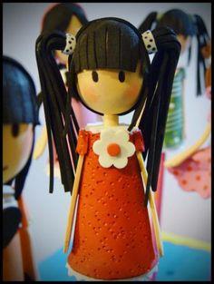 lapices muñecas gorjuss  goma eva,porex,acrilicos termoformado