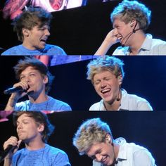 HE SERIOUSLY DOES ANYTHING JUST TO MAKE NIALL LAUGH ITS SO FREAKING CUTE LIKE AT OUR CONCERT LOUIS WHISPERED SOMETHING TO HIM AND HE STARTED CRACKING UP IT WAS ADORABLE