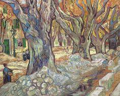 Vincent van Gogh - The Large Plane Trees (Road Menders at Saint-Remy), 1889