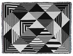 Graphic, Black & White Jacquard Throws from Matt W. Moore