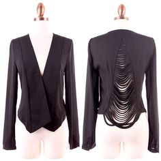 Black jacket, $40.00 by Appealing Boutique