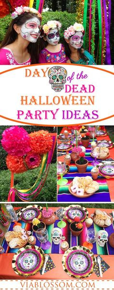 You don't want to miss our Day of the Dead Party ideas for a wicked Halloween Party! All your Halloween Party Ideas you will need for a Dia de Los Muertos Party!!