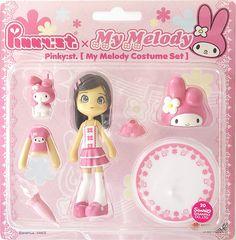 $29.99 - Pinky Street Pinky:st PC006 Sanrio Hello Kitty MY MELODY Sacchin Figure Set GSI Creos