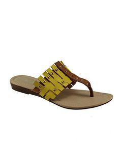 Loving this Cream & Yellow Studded Jimmy Sandal on #zulily! #zulilyfinds