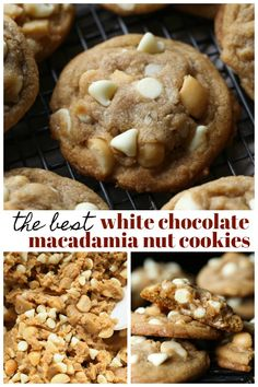 White Chocolate Macadamia Nut Cookies are a thick and buttery cookie recipe, loaded with creamy white chocolate chips and salty macadamia nuts. Browning the butter gives them an extra depth of flavor, and no mixer required! Best White Chocolate, White Chocolate Macadamia, Oatmeal Chocolate Chip Cookies, Chocolate Chips, Gooey Cookies, Buttery Cookies, Macadamia Nut Cookies, Favorite Cookie Recipe, Favorite Recipes