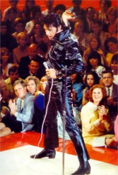Elvis on stage at the N-B-C studios in june 29 1968.......................lbxxx.