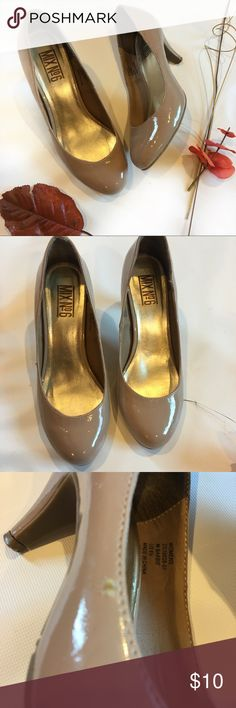 🛑 BLACK FRIDAY SALE! Mix No.6 nude pumps Go from work to play in these round tie patent pumps from mix no 6. Super comfy with a 2.5 inch heel. Never worn. Excellent conditions. Mix No. 6 Shoes Heels