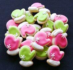 Mini mitten cookies
