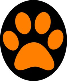 Panther paw print clip art at vector clip art