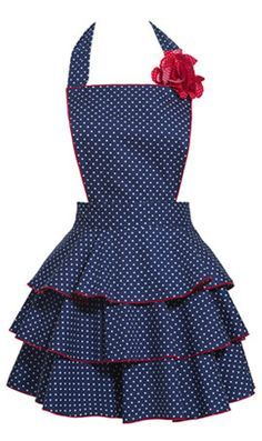 A cute apron serves a purpose and keeps the hostess chic! …