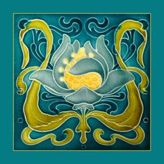 """36 Original Art Nouveau tile by Malkin (1906). Courtesy of Robert Smith from his book """"Art Nouveau Tiles with Style""""."""
