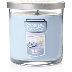 Yankee Candle Beach Walk 7-oz. Candle Jar ($16) ❤ liked on Polyvore featuring home, home decor, candles & candleholders, multicolor, orange blossom candle, orange blossom scented candle, wick candles, colored jars and yankee candle