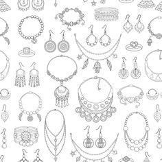 Jewelry Art, Jewelry Gifts, Fashion Jewelry, Art Portfolio Case, Jewelry Design Drawing, Jewellery Sketches, Fabric Necklace, Handmade Beaded Jewelry, Diamond Wedding Bands