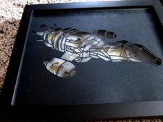Firefly shadow box, Serenity, layered papercut, limited edition