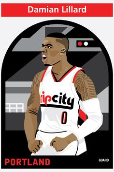 NBA Player Illustrations by Matthew Hollister