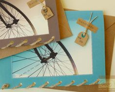 Bicycle Wheel - Happy Cycling - Road Cycling - The Sky is The Limit - Card Handmade in Ireland via Etsy