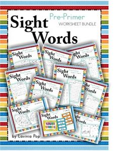 Pre-Primer Sight Words WORKSHEET MEGA BUNDLE! Over 400 pages that can be used with the whole class, in word work centers and homework.