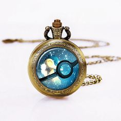 Retro Pocket Watch-Pokemon Ball necklace,Cyndaquil Pocket Watch Necklace on Etsy, $4.98
