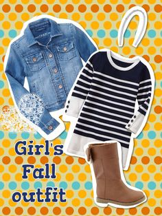 All clothing from GAP. Toddler girl fall outfit.