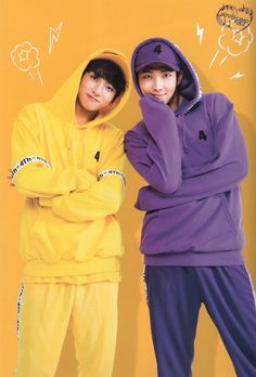 Jungkook and Rap Monster