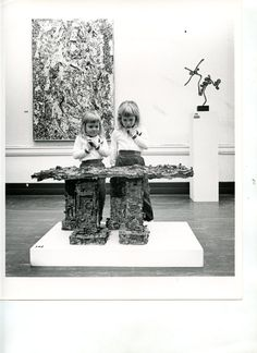 Carnegie International Exhibition 1961 at Carnegie Museum of Art Pittsburgh: installation view with kids