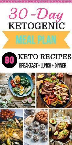 Easy 30-day KETO Diet meal plan and shopping list for beginners! With 90 ketogenic diet recipes for breakfast, lunch, dinner, and snack this is the perfect place to start losing weight!