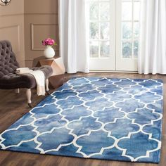 Dip Dye Navy/Ivory (Blue/Ivory) 4 ft. x 6 ft. Area Rug