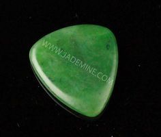 Jade Guitar Pick. I love the depth of color! I want one.