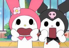 Funny faces Aesthetic Themes, Pink Aesthetic, Aesthetic Anime, Cartoon Memes, Cartoon Pics, Cute Cartoon, Sanrio Characters, Cute Characters, Hello Kitty My Melody