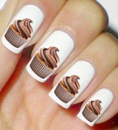 Cupcake Nails Chocolate Lovers Nail Art Polish by artnails1
